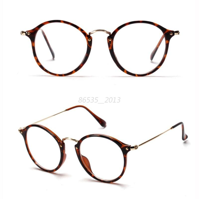 Glasses Frames Vintage Style : Stylish Unisex Vintage Style Glasses Metal Frame Clear ...
