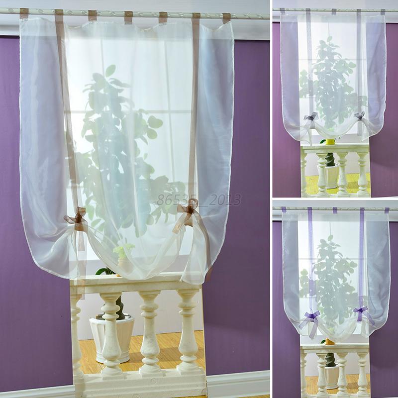liftable blinds sheer voile kitchen bathroom balcony window curtain