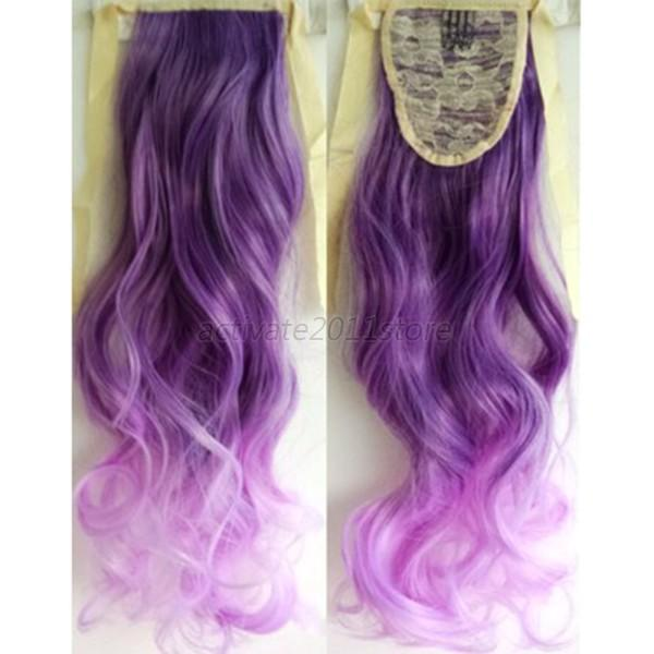 Women Girls Full Head Clip in Long Synthetic Hair Extensions Curly ...