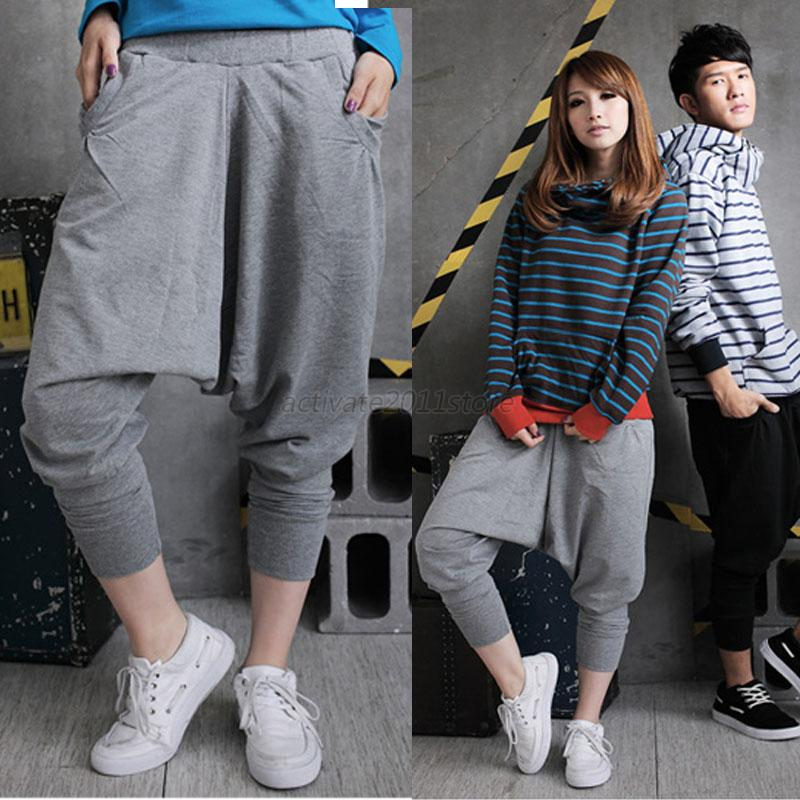 Luxury 2015 Fashion Womenu0026#39;s Punk Hip Hop Harem Pants Stripe Loose Sports Jogger Trousers Sweatpants Ca ...