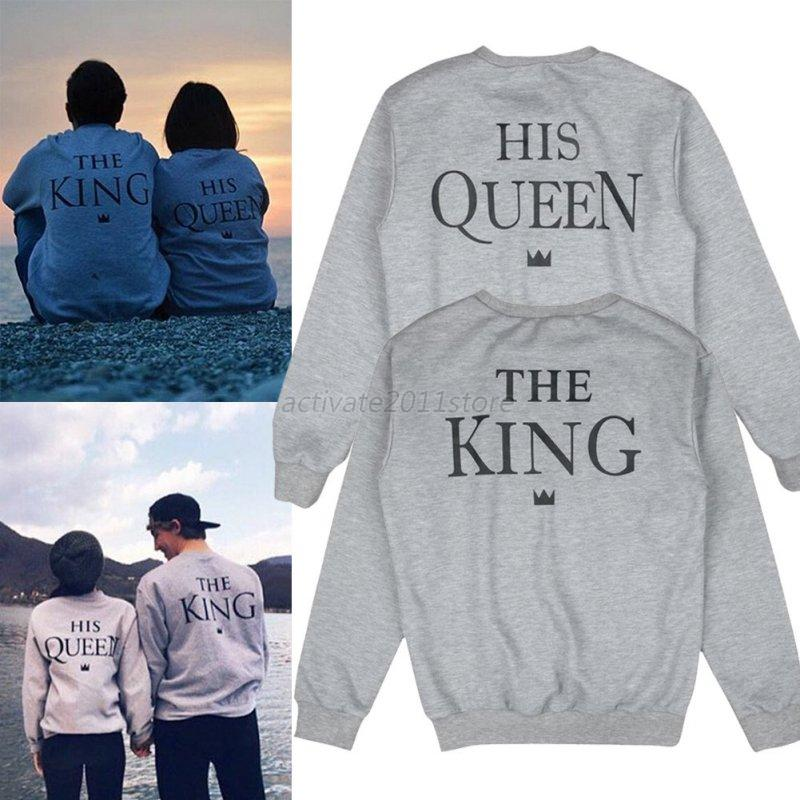 fashion hoodies pullover couple matching king and queen. Black Bedroom Furniture Sets. Home Design Ideas