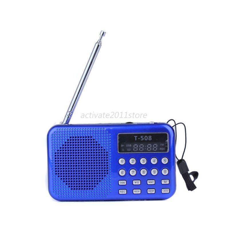 mini portable lcd digital fm radio speaker usb micro tf. Black Bedroom Furniture Sets. Home Design Ideas
