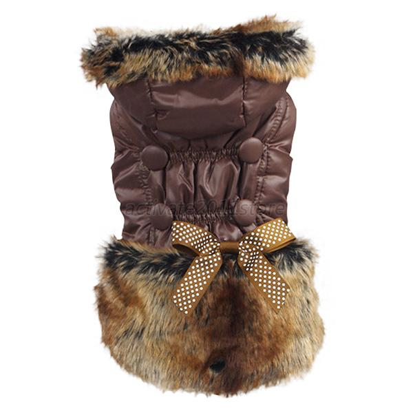 Cute Pet Dog Coat Hoodie Jacket Puppy Cat Winter Warm Clothes Apparel XS-3XL A34