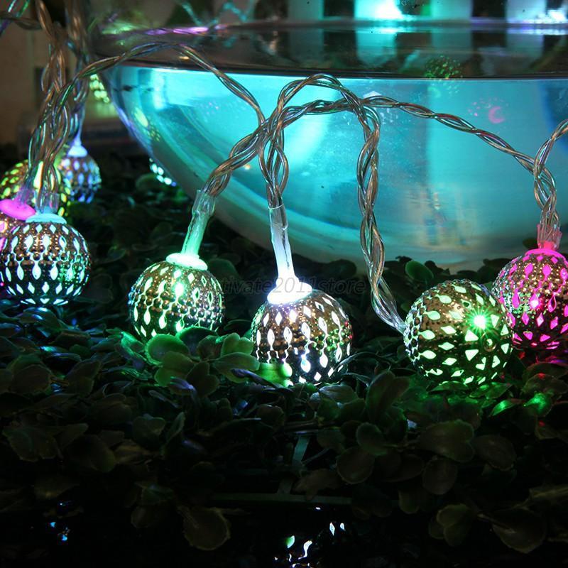 Room 20/40 Rattan Ball LED Light String Fairy Lamp Wedding Party Xmas Decor New eBay