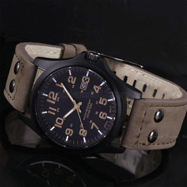 men 039 s fashion sport watches men military leather band quartz men 039 s fashion sport watches men military leather band quartz wrist watch