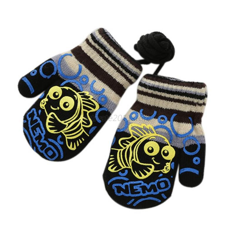 Animals Print Toddler Gloves Winter Stretchy Baby Gloves