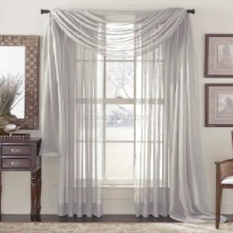 Multi Color Sheer Door Window Divider Curtain Drape