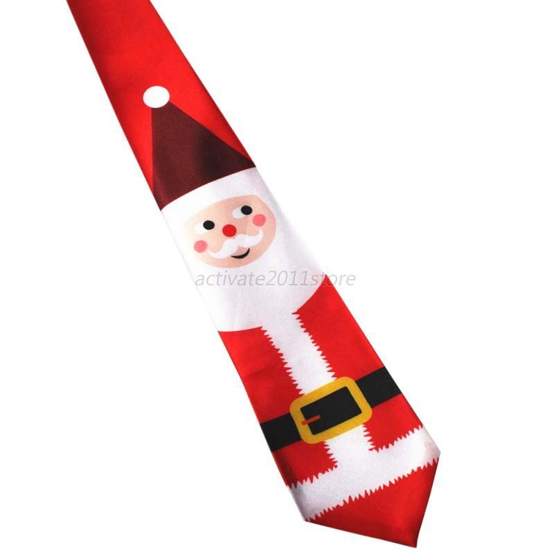 Femme-Hommes-Helloween-Noel-Santa-Tree-Renae-Festival-Cravate-Cravate-Noel-New
