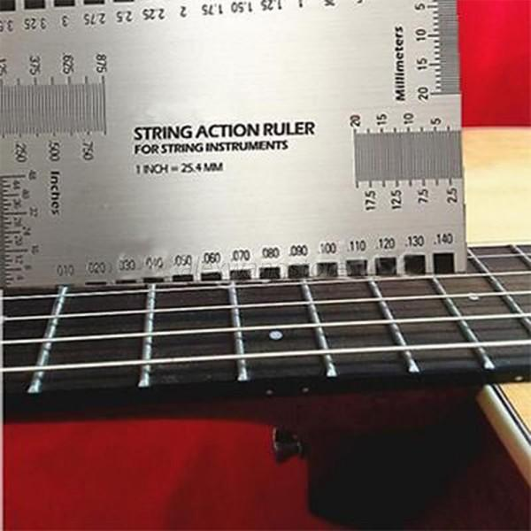 hot new guitar bass string action ruler gauge guide measuring luthier tools a63 ebay. Black Bedroom Furniture Sets. Home Design Ideas