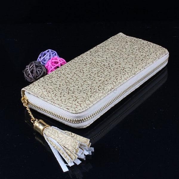 Womens Zipper Card Coin Holder Wristlet Purse PU Leather Clutch Long Wallet  A85