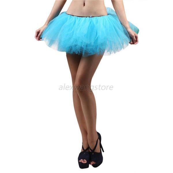 Sexy Women Adult Teen Girls Pettiskirt Ballet Dance Party Fluffy Tutu Skirt A26  Ebay-2692