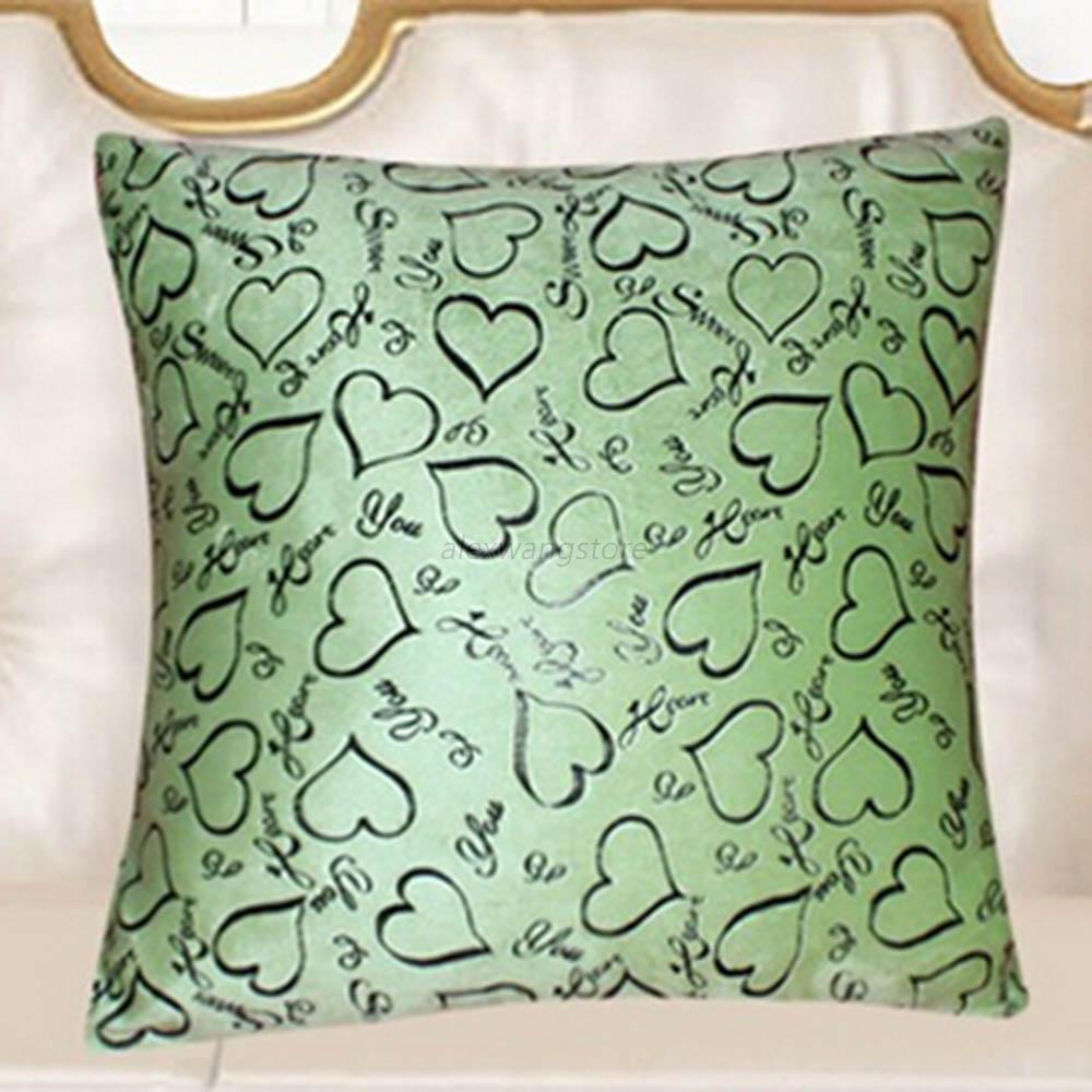 Retro Decorative Pillows : Heart Retro Throw Pillow Cases Home Bed Sofa Decorative Cushion Cover 16x16