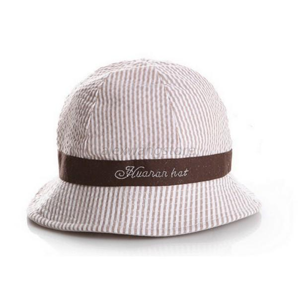 US Baby Kids Summer Sun Cap Infant Boy Girl Beach Bucket Hat Visor ...