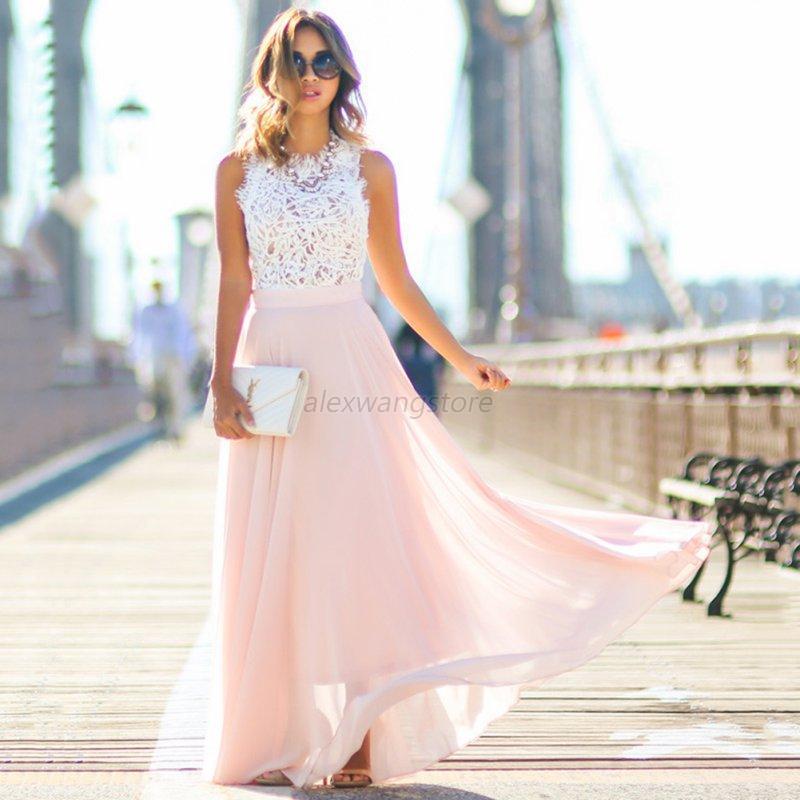 Plus-Women-Boho-Chiffon-Long-Maxi-Evening-Party-Dress-Beach-Maxi-Dress-Sundress