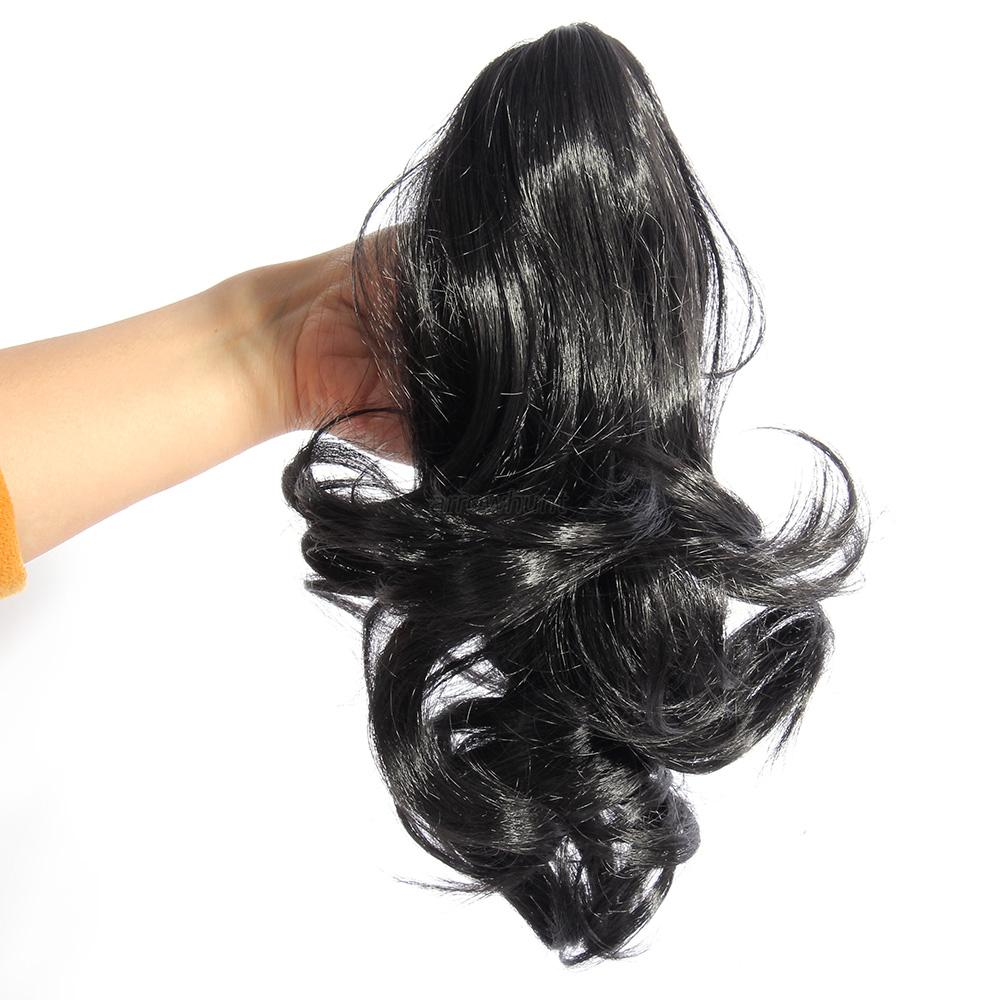 Us Lady Hairpiece Short Wavy Curly Claw Hair Ponytail Clip On Hair