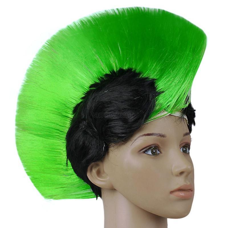Multi Color Mohawk Hair Wig Punk Rocker Hairstyle ...
