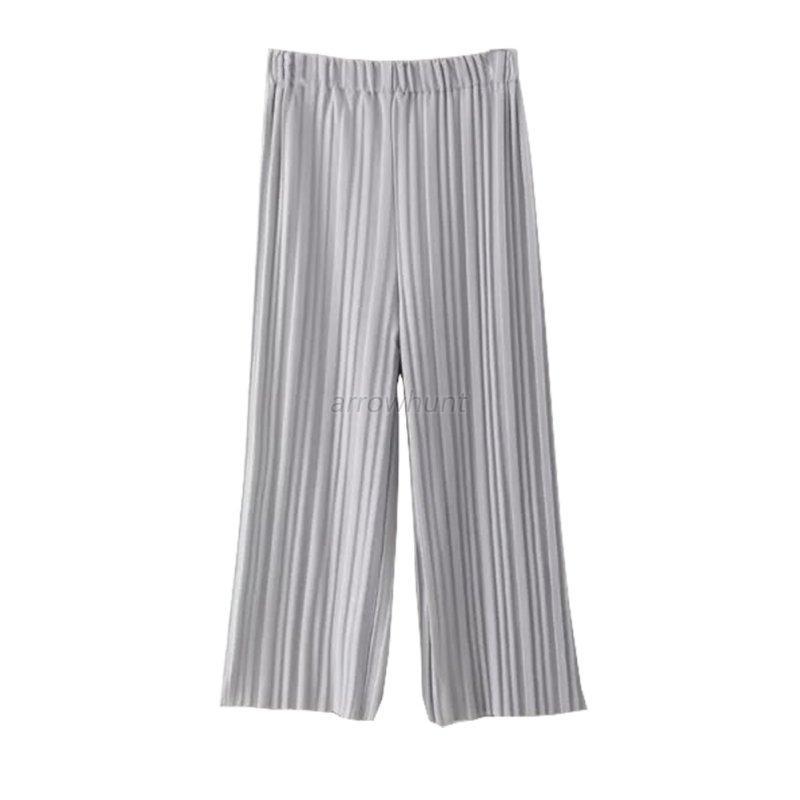 Perfect Free Shipping European Style Chiffon Pleated Pants Women Pants Elastic