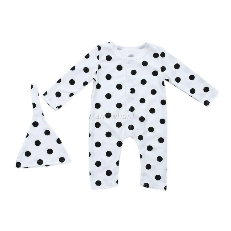 Newborn-Infant-Baby-Long-Sleeve-Romper-Jumpsuit-Bodysuit-Hat-Outfits-Clothes-Hot