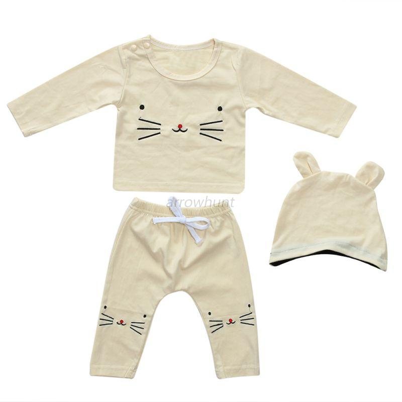 3PCS-Newborn-Infant-Baby-Boy-Girl-Long-Sleeve-T-shirt-Tops-Pants-Outfits-Clothes