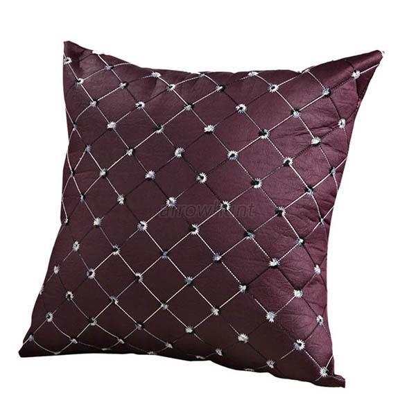 Throw Pillows For A Bed : Retro Square Pillows Case Sofa Throw Pillow Cushion Cover Waist Bed Home Decor eBay