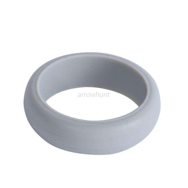 Mens Silicone Wedding Ring Band Rubber Ring Flexible Durable