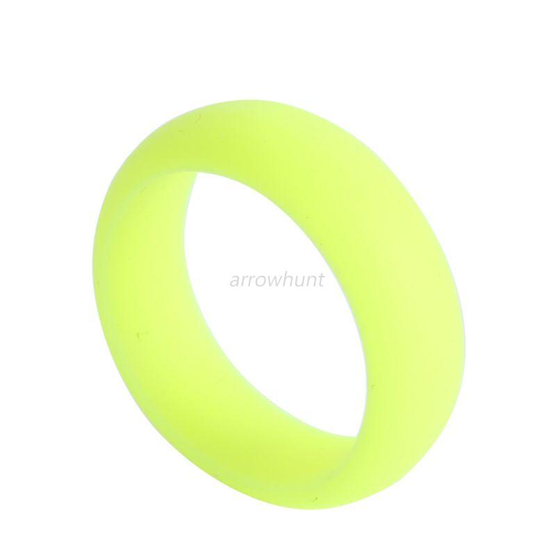 Mens Silicone Wedding Ring Band Rubber Ring Flexible Durable ...