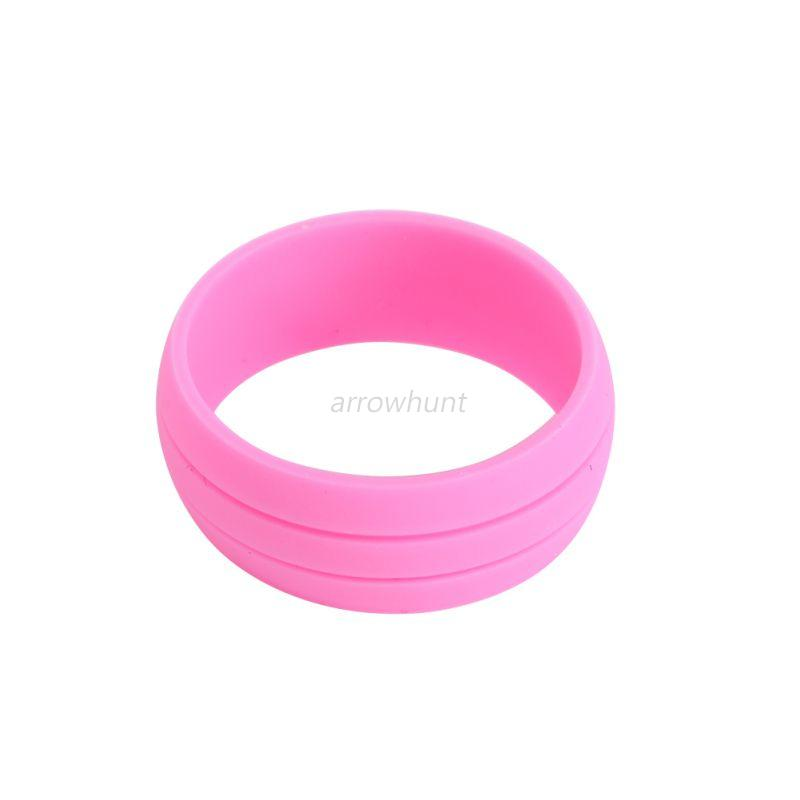 9mm Unisex Flexible Comfortable Rubber Silicone Ring Wedding Band 8