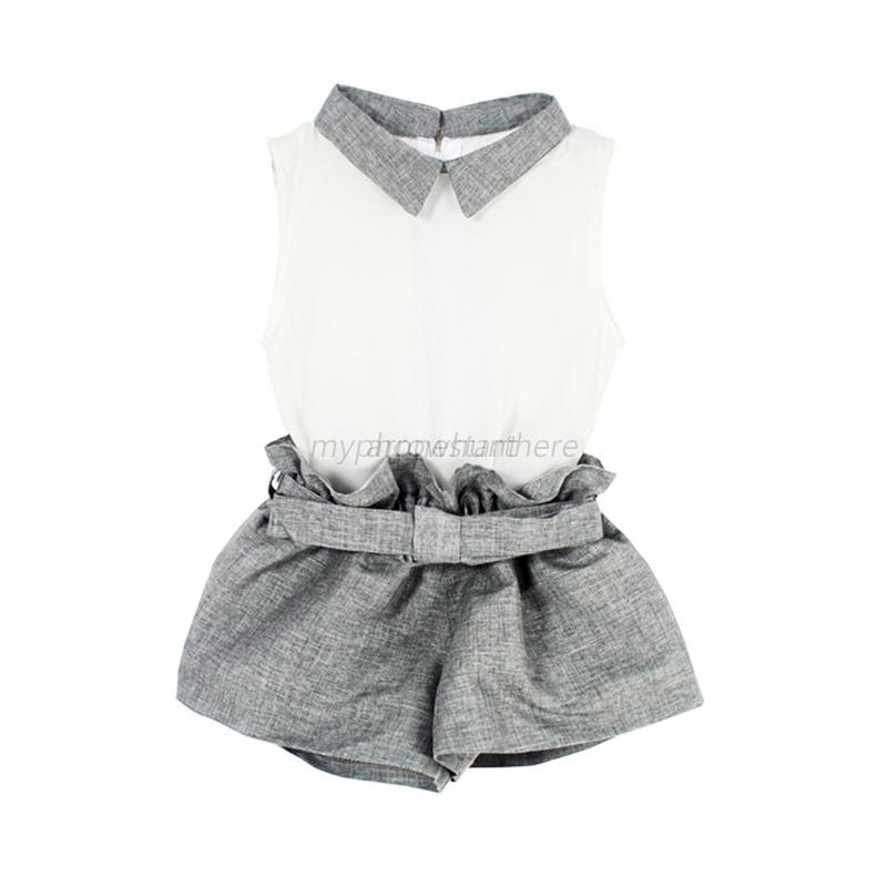 Summer-Kids-Baby-Toddler-Girls-Vest-T-shirt-Pants-Suits-Clothes-Outfits-Set-UK