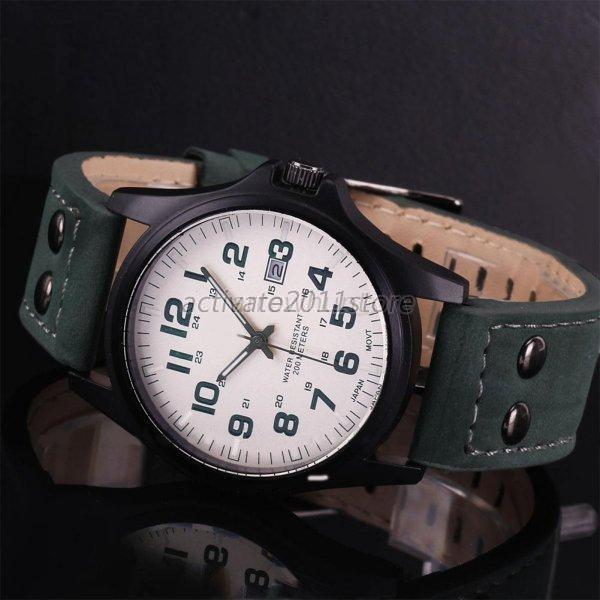 casual s sport watches army leather band
