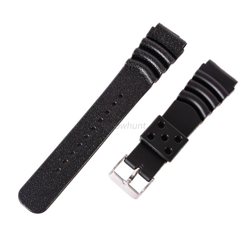 Silicone Watch Band Rubber Wristwatch Strap Replacement ...