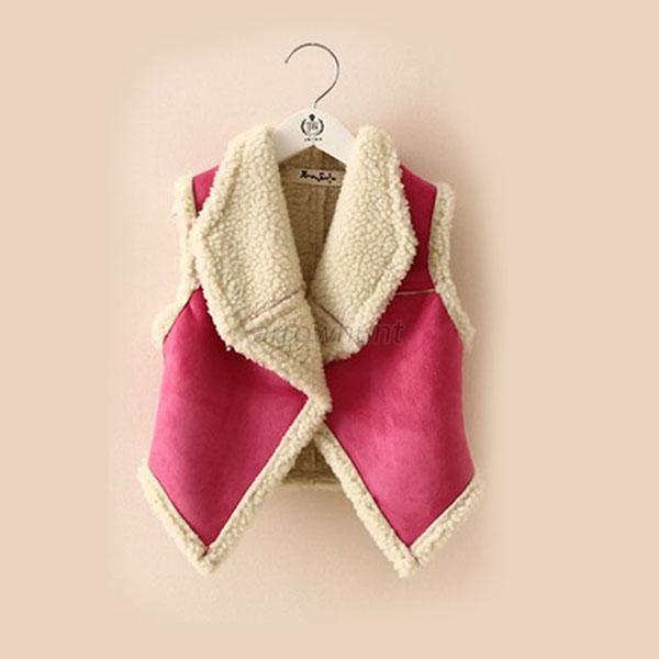 Lovely-Kids-Baby-Toddler-Girls-Lapel-Vest-Waistcoat-Winter-Warm-Jacket-Outerwear
