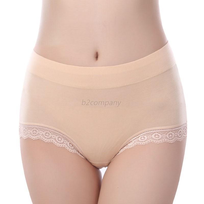 Womens High Waist Lace Briefs Pants Seamless Modal Knickers ...