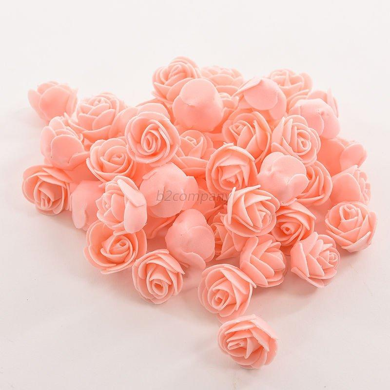 50pcs-Mini-Roses-Artificial-Silk-Flower-Heads-PE-Foam-Rose-DIY-Wedding-Decor-Hot