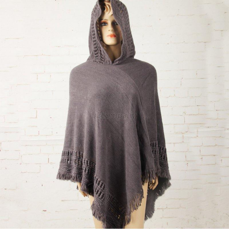 Women-Knitted-Hoodie-Batwing-Poncho-Cape-Sweater-Ladies-Outwear-Wrap-Coat-Tops