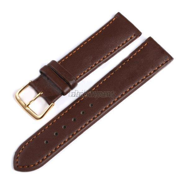 replacement leather band mens stainless steel