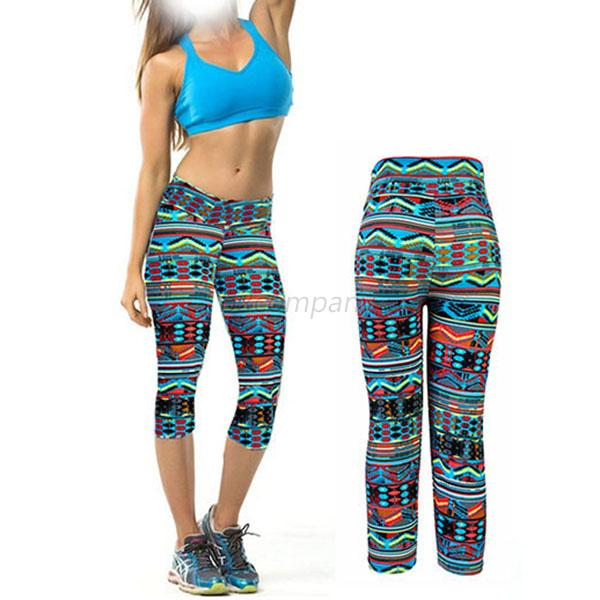 Women High Waist Fitness Yoga Sport Pants Cropped Tight