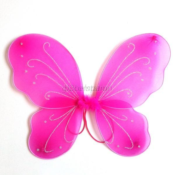 Princess Angel Fairy Butterfly Wings Party Halloween Costume Kids Girls Clothes