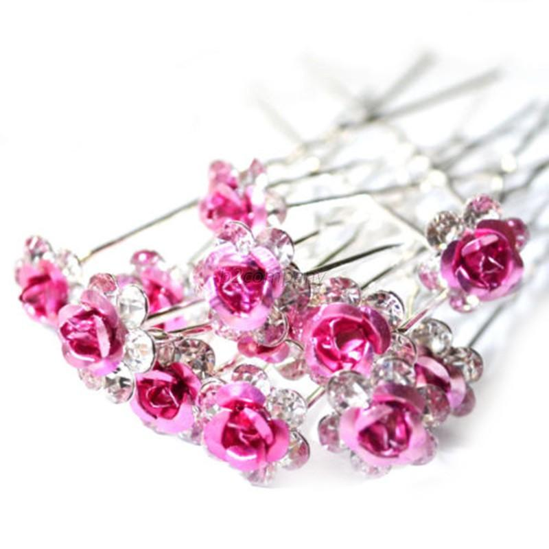 Wholesale Rose Flower Crystal Rhinestone Wedding Bridal