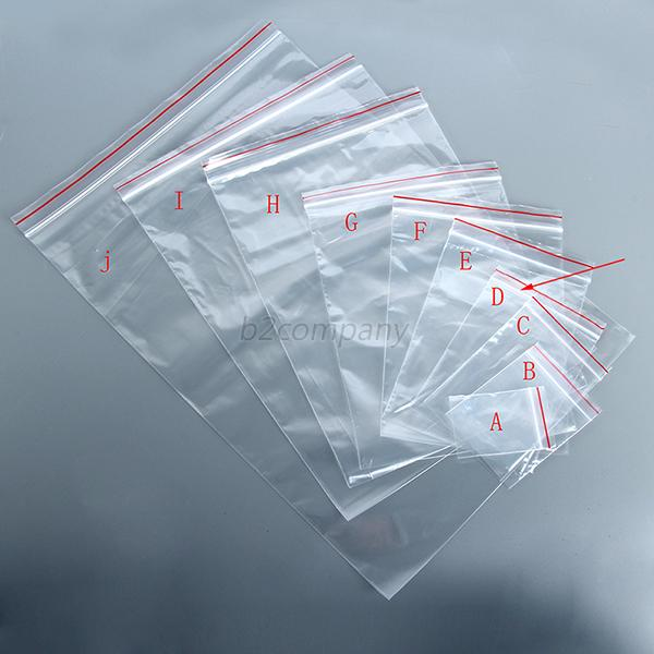 100pcs reclosable ziplock zipper lock reclose plastic bag purse 10 sizes tools ebay. Black Bedroom Furniture Sets. Home Design Ideas