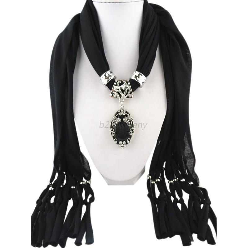 winter scarves charms water drop pendant scarf