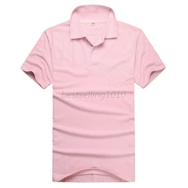 Fashion Men 39 S Lapel Polo Shirt Short Sleeve Solid Color