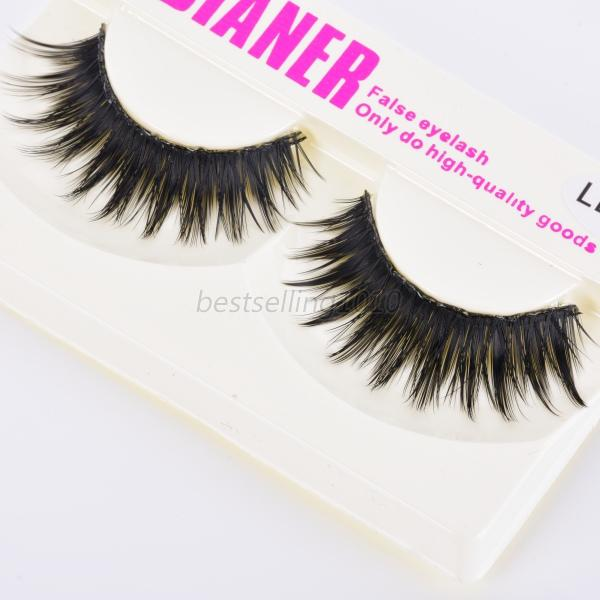 New 5pairs beauty long natural makeup black handmade thick for Salon 615 lashes