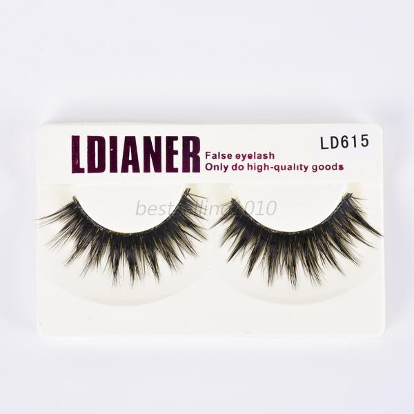 Long black thick natural eye false lashes makeup fake for Salon 615 lashes