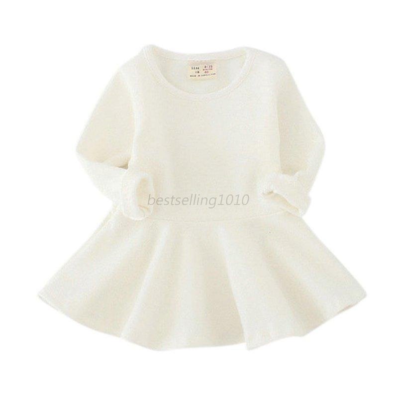 Toddler long sleeve white dress