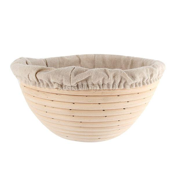 Round Banneton Proofing Basket Bread Bowl Rising Scraper Liner Brotform Dough US 13