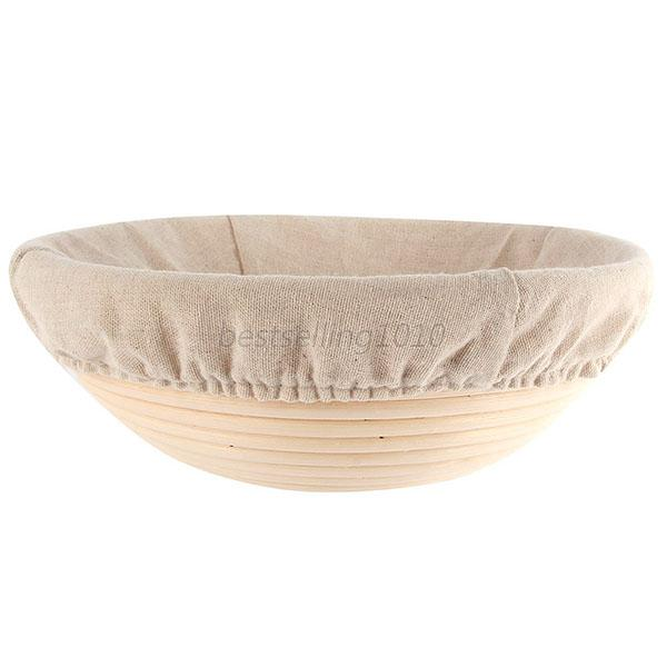Round Banneton Proofing Basket Bread Bowl Rising Scraper Liner Brotform Dough US 12