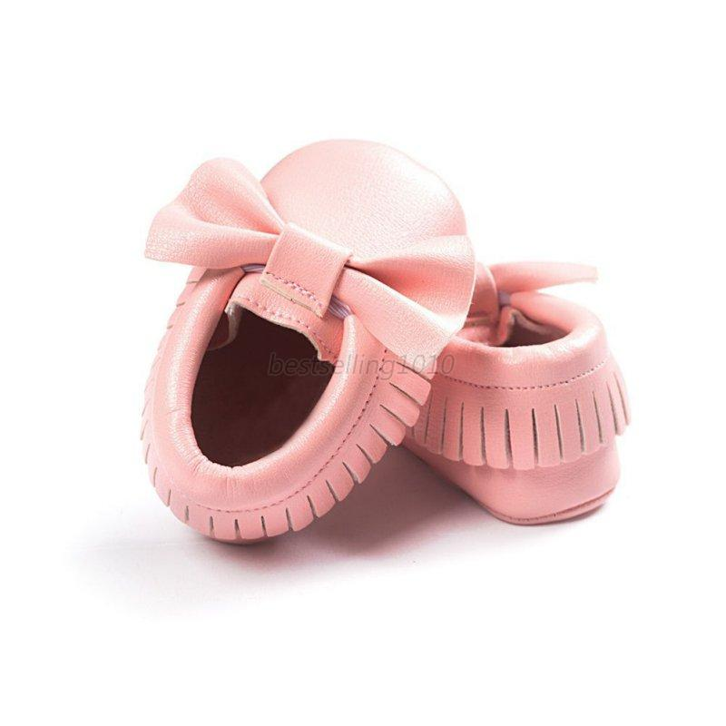 Baby Soft Sole Suede Leather Shoes Infant Boy Girl Toddler