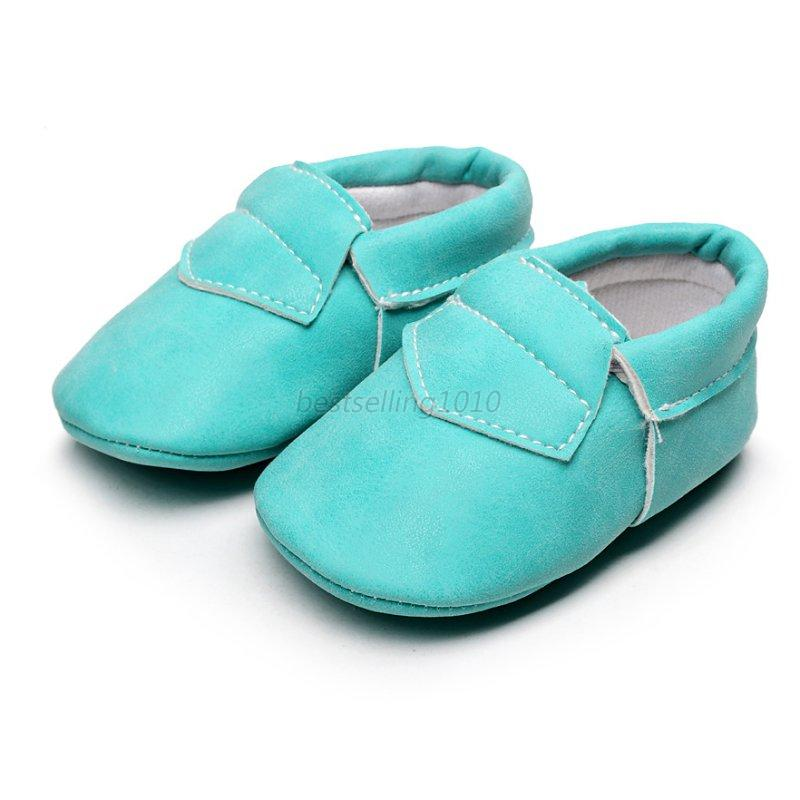 Baby Kids Soft Sole Leather Shoes Infant Boy Girl Toddler