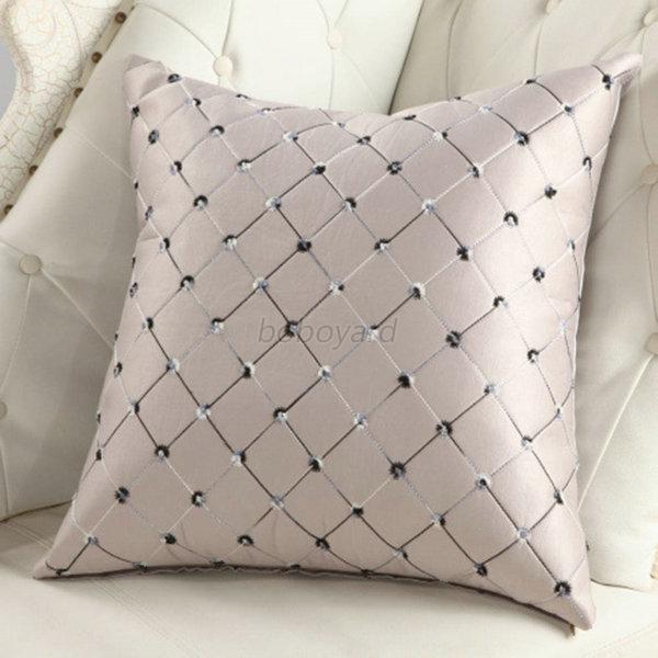 home sofa bed decor multicolored plaids kissen pillow case square cushion cover ebay. Black Bedroom Furniture Sets. Home Design Ideas