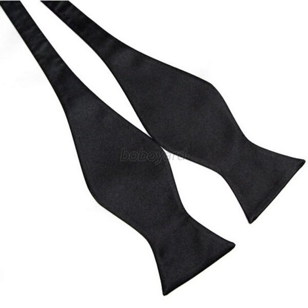 Fashion-Adjustable-Men-039-s-Multi-Color-Silk-Self-Bow-Tie-Necktie-Party-Wedding